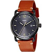 Fossil Men's FS5276 The Commuter Three-Hand Date Luggage Leather Watch