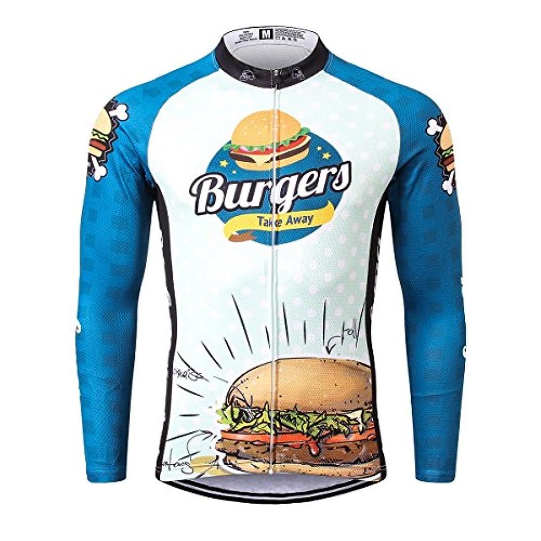 ピグマリオンペフ論文Thriller Rider Sports サイクルジャージ メンズ 男性自転車運動服装半袖 Burgers 6 Colors