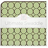 【並行輸入品】Swaddle Designs 究極のおくるみブランケット ブラウンサークル ライムグリーン SD-016LM