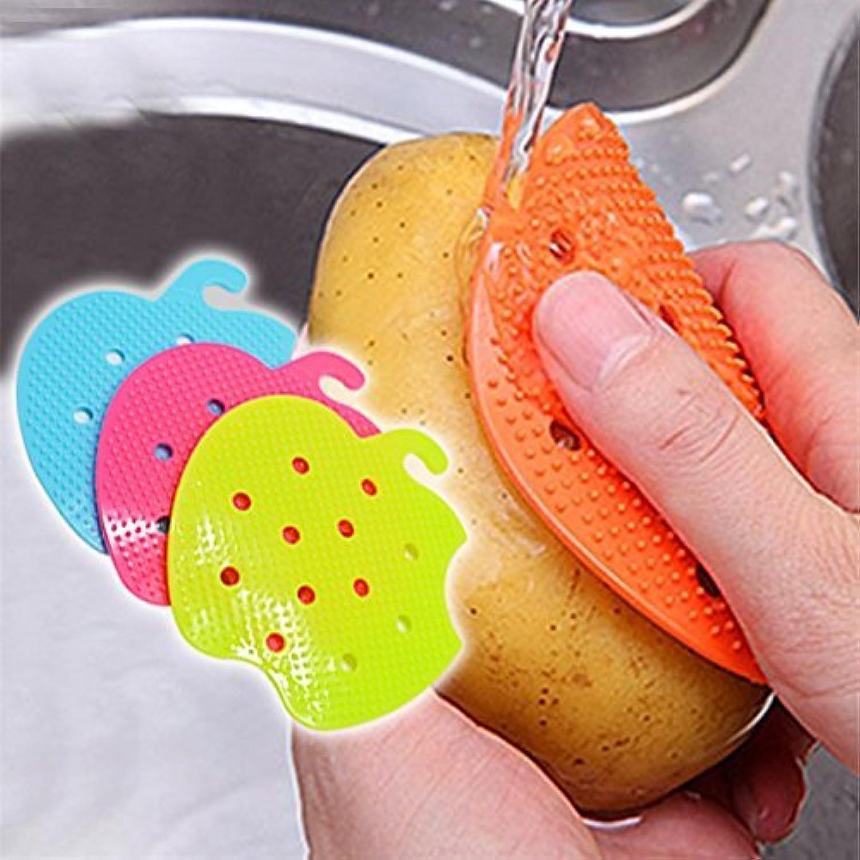 1 作品 多機能 フルーツ 野菜 ブラシ キッチン ツール 簡単 クリーニング ブラシ の ジャガイモ 台所 家 ガジェット ツール を 調理