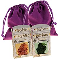 Harry Potter Slytherin & Gryffindor Themed Playing Cards || Bundle of 2 Unique Decks || Bonus Two Purple Velveteen Drawstring Storage Pouches || Bundled Items