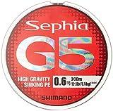 シマノ(SHIMANO) PEライン セフィア G5 200m 0.6号 マルチカラー PL-E65N