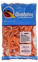 Qualatex無地ゴム風船 丸型5インチ(13cm) オレンジ 100個入