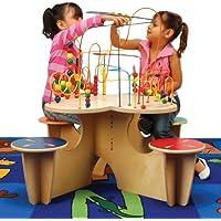 Anatex Kids Fleur Rollercoasterグループ再生マルチ学習Funアクティビティテーブルwith 4 Attached Stoolsおもちゃクリスマスギフト