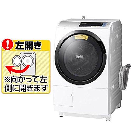 日立 11.0kg ドラム式洗濯乾燥機【左開き】シルバーHITACHI BD-SV110BL-S