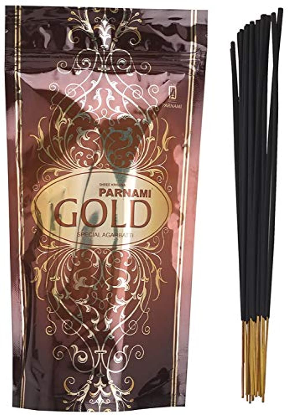 再集計コミュニケーション屋内Parnami Agarbatti Wooden Incense Sticks (16 cm x 4 cm x 4 cm, Black, PA-13)
