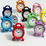 クロックス レディース フラット ランダムMini Clockドールハウスミニチュア1: 12スケールFairy人形ホームライフシーンx1& # x266b ;