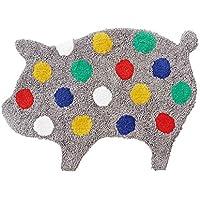 インターフォルム(INTERFORM INC.) モチーフマット(S) Big dot Piggy - ビッグドット ピギー - グレー 幅65×奥行46cm FL-9071GY FL-9071GY