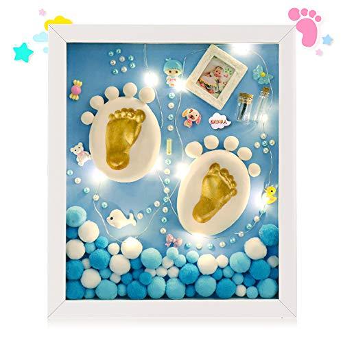 べびーフレーム 手形 足形 赤ちゃん 出産祝い ベビーグッズ 記念品 ベビーアルバム フォトフレーム 命名紙 ...