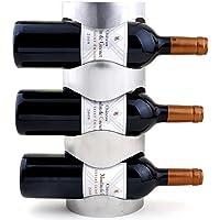 WR1 ワインラック ホルダー 3本収納 4本収納 ワイン シャンパン ボトル 収納 ケース スタンド インテリア ディスプレイ (3本収納用)