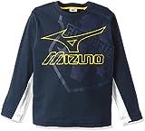 (ミズノ)MIZUNO トレーニングウエア Tシャツ (長袖) [ジュニア] 32JA6933 14 ネイビー 140