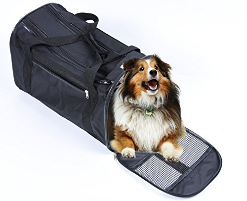 (PawStory)ペットキャリーバッグ ボックス ドライブ 折り畳み式 スリング 小型犬 猫 手提げ 車載 軽い お出かけ便利  ブラック