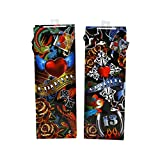 Axiom Wine Bottle Gift Bags for Men and Women - Fancy Tattoo Patterns - Bulk Pack of 12