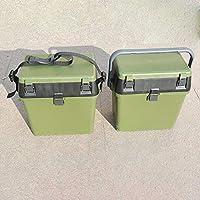 コーネリアミリタリーグリーンフィッシングボックスツールボックスストラップ付きハンドフィッシングフィッシングギアツールボックスシートベルトバックルデザイン
