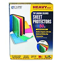 Colored Polypropylene Sheet Protector, Assorted Colors, 11 x 8 1/2, 50/BX (並行輸入品)