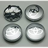 BENZEE 4pcs W237 60mm Silver Car Emblem Badge Sticker Wheel Hub Caps Centre Cover Toyota Corolla RAV4 Camry Prius REIZ VIOS