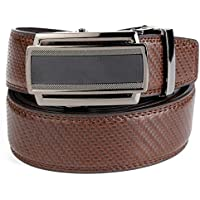 Men's Belt Handmade Italian Vegetable Tanned Leather Top Grain Cowhide 3.8CM Wide Adjustable Buckle Casual Belt, By Cosarmo