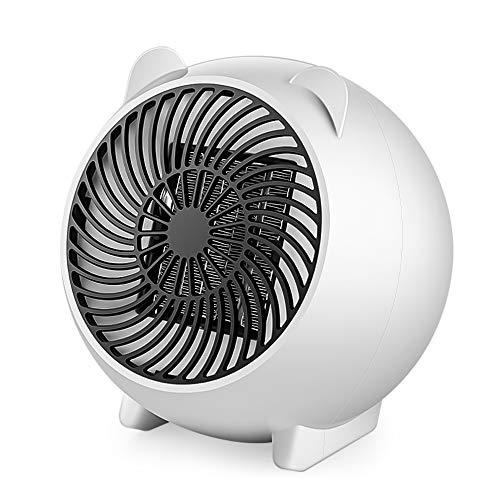 ファンヒーター セラミックファンヒーター 暖房器具 Ninonly 3秒速暖 自動過熱保護 難燃性 角度調整 ミニ携帯便利 静音設計 省エネ オフィス/リビング/脱衣所適応 日本語取扱説明書付き ホワイト