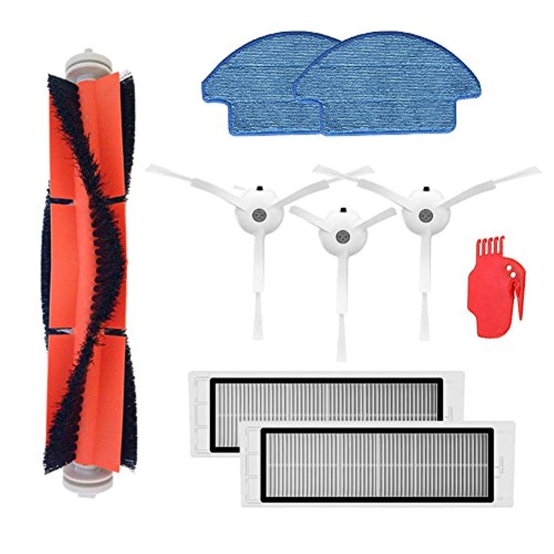アクセサリーXiaomi mijiaロボットroborock s50 s51用掃除機部品キットmijiaサイドブラシHEPAフィルターメインブラシクリーニングツールモップペースト付きモップクロス