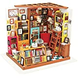 (Sam's Study) - ROBOTIME Dollhouse Kit Miniature DIY Library House Kits Best Christmas Gifts for Adult and Kid