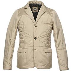 Eleventy Nylon Insulated Jacket: Beige