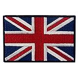 イギリス ユニオン・ジャック 紋章 イングランド 国旗 UK 英国 アップリケ 刺繍入りアイロン貼り付け/縫い付けワッペン 期间限定