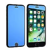 Hi-Resolution iPhone各機種対応マジックミラーガラスフィルム(iPhone6Plus/6sPlus/7Plus, ブルー) [並行輸入品]