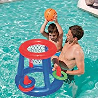 Giant Inflatable Floating Basketball Hoop & Blow Up Ball For Swimming Pool
