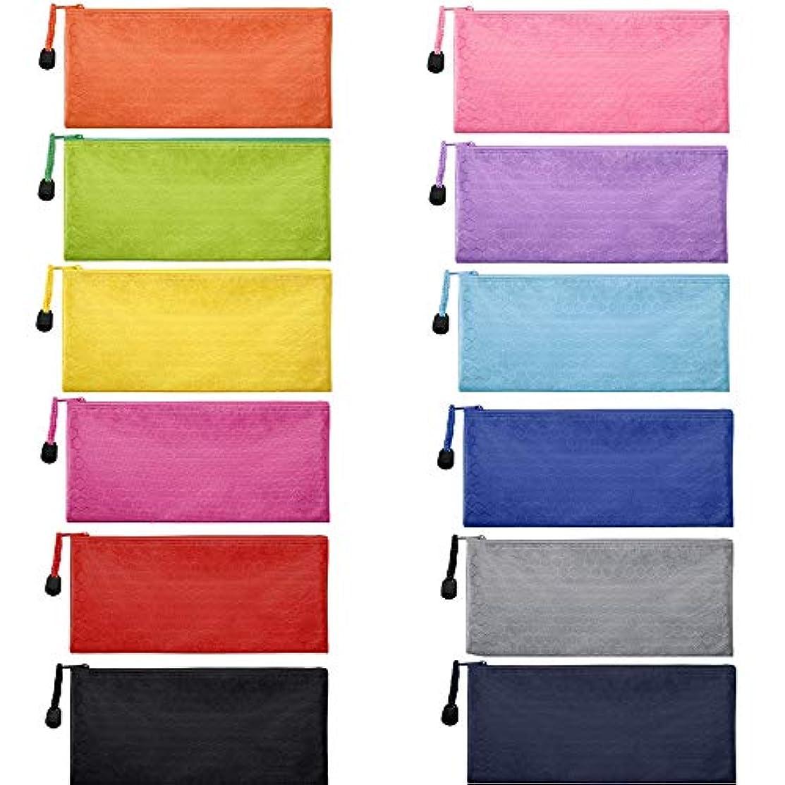 不変残りワームZ-Liant 12ピース ジッパー付き防水バッグ ポーチ 化粧品 メイクアップ オフィス用品 旅行アクセサリー(12色)
