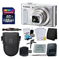 Canon PowerShot sx620HSデジタルカメラ(シルバー) + Transcend 32GBメモリカード+ Point & Shootカメラケース+カードリーダー+メモリカード財布+ LCDスクリーンプロテクター+クリーニングキット+ Complete Bundle