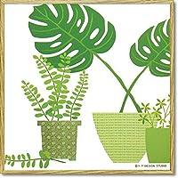 ユーパワー Modern Canvas モダン キャンバスアート グリーンポットコレクション(D) YP-03012-2 【人気 おすすめ 通販パーク】