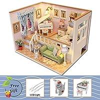 DORA⊕BRS ドールハウス家具ミニチュアドールハウス Diy のミニチュアハウスルームボックスシアターおもちゃ子供のためのステッカー DIY ドールハウス 18K
