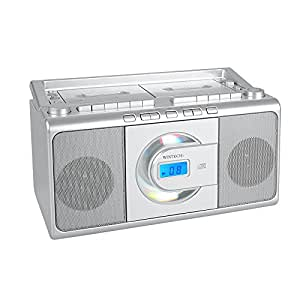 WINTECH CDダブルラジカセ(FMワイドバンド対応) シルバー CDR-W70