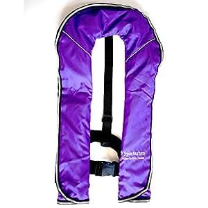 I sportarten Atlantischer Ozean アイ シュポルテン ライフジャケット ベストタイプ 手動膨張式 -体重150kg対応 (パープル)