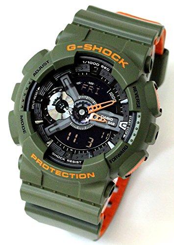 [ジーショック]G-SHOCK CASIO カシオ アナデジ メンズ 腕時計 カーキ ブラック GA-110LN-3A [並行輸入品]