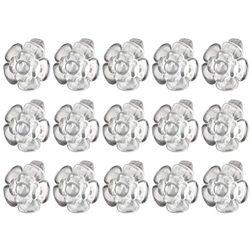 金属エイリアス毛細血管Lurrose 50ピースネイルカラーディスプレイフラワーシェイプリングネイルアート練習ディスプレイラックネイルポリッシュデコレーションネイルアートツール