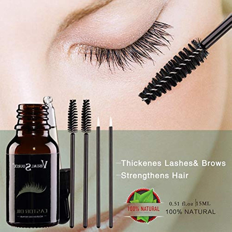 無駄な悩みメナジェリーalluoleの自然な毛の成長の精油のヒマシの有機性まつげの増強物の成長の血清はボディケアのための皮の老化を防ぎます