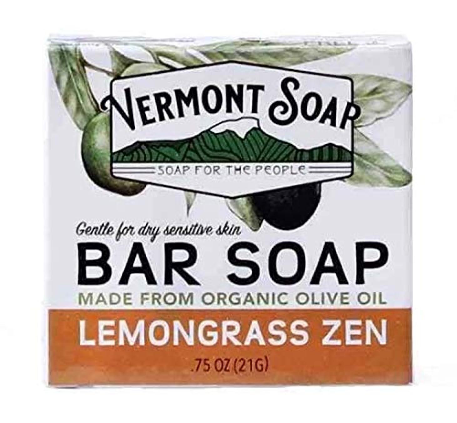 毛皮苦行比べるバーモントソープ トラベルサイズ (レモングラス) オーガニック石鹸 洗顔 21g