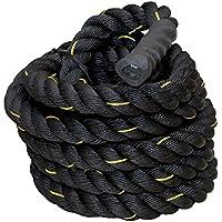 ジムロープ トレーニングロープ スイングロープ 筋トレ 体幹 全長9m 直径5cm バトルロープ △_86215