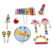 Fityle 音楽教材 子供 初期教育 教育援助 楽器おもちゃ ギフト 全3選択 - 10個