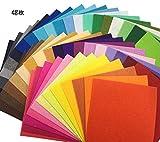 48枚 カラー フェルト 生地 クラフト DIY手芸用 サイズが選べる カットフェルト 1mm厚 48色セット (15cm x 15cm)