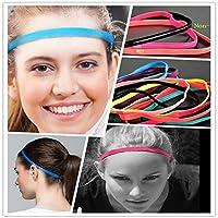 女性のヨガの髪のバンドスポーツの弾性のヘッドバンドの女の子のスポーツ滑り止めのhairbandsゴムのヘアバンドフィットネスメンズサッカーはP1613を実行している