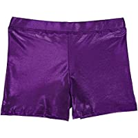 HDE Girl's Gymnastics Dance Cheer Metallic Shorts