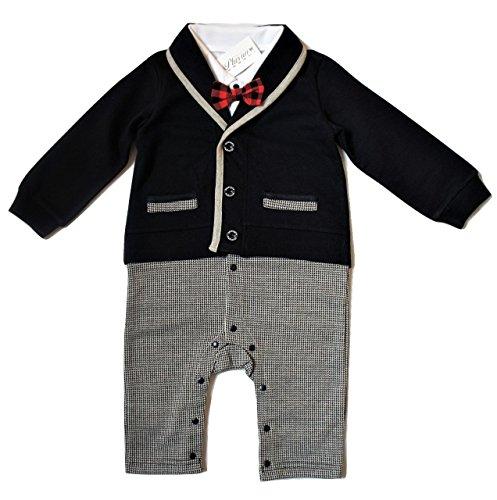 ベビー 赤ちゃん ロンパース 男の子 かわいい フォーマル スーツ 風 カバーオール 新生児