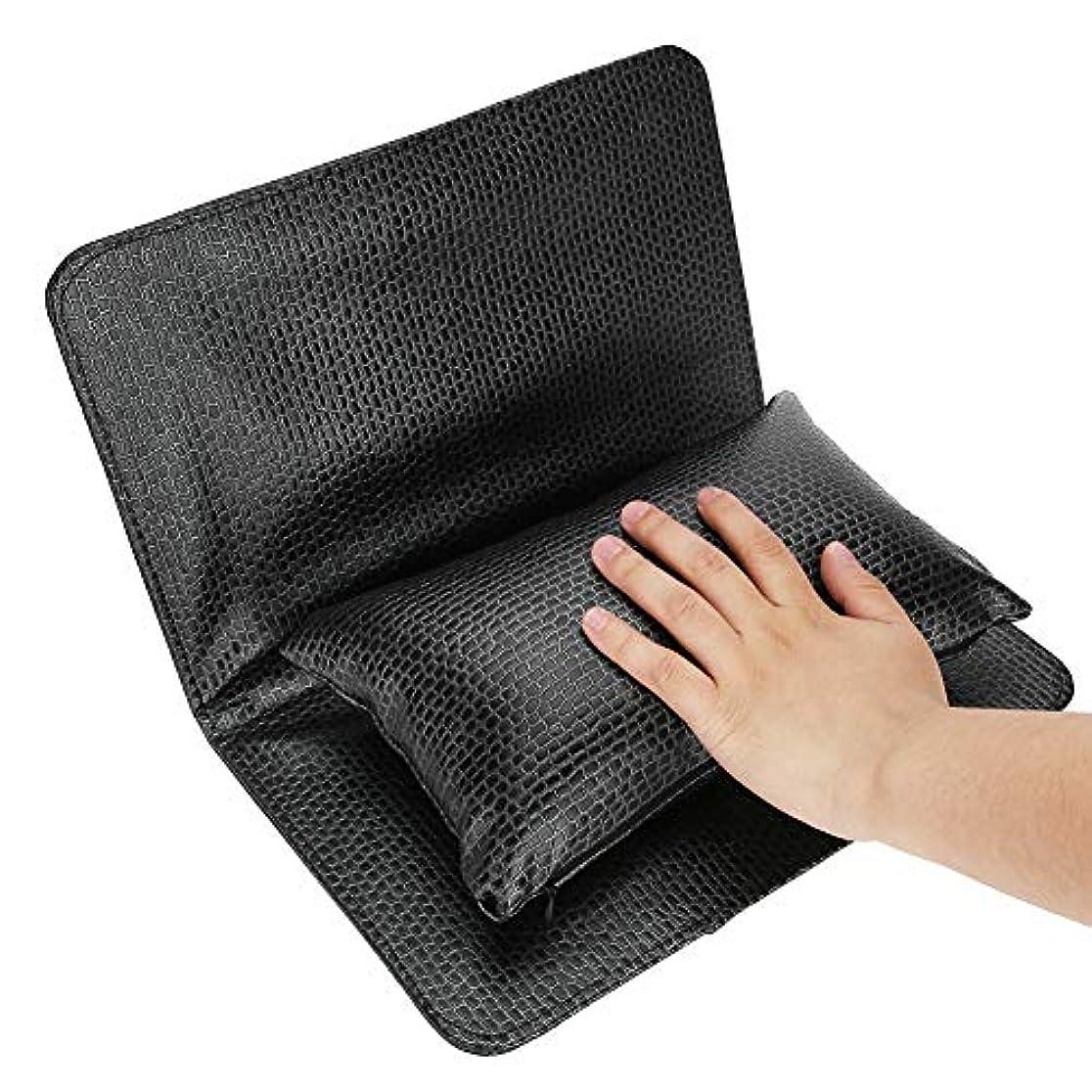 想像する実際癒すochunネイル用アームレスト アームレスト ネイル ハンドクッション 手をサポート 練習用にも 高弾性な充填物 PUレザー 清潔容易 水洗え 折り畳み式