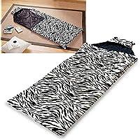 (Zebra) - Girls Sleeping Bag with Cat Ear Hood Indoor Outdoor Sleepover Camping Teen Youth, Zebra