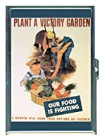 Plant a Victory Garden World War IIステンレススチールIDまたはCigarettesケース( Kingサイズまたは100mm )
