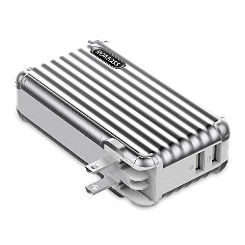 モバイルバッテリー搭載 AC急速充電器 10000mAh RO...