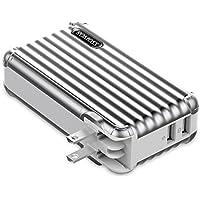 モバイルバッテリー搭載 AC急速充電器 10000mAh ROMOSS ACプラグ内蔵 スーツケース型 スマホ充電器 iPhone iPad Android対応 スペースグレー UP10