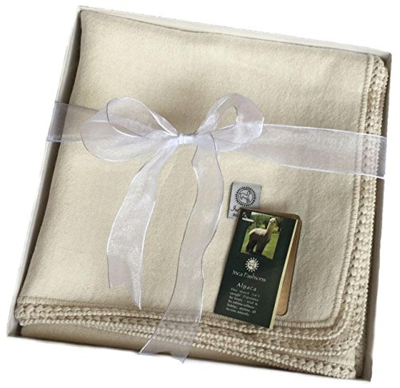 Alpaca Baby Blanket / Toddler Blanket, (100% Baby Alpaca) Crib Size 36in X 52in by Incredible Natural Creations from Alpaca - INCA Brands